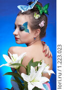 Купить «Девушка с бабочками», фото № 1223023, снято 15 февраля 2009 г. (c) Serg Zastavkin / Фотобанк Лори