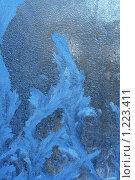 Купить «Ледяной узор на стекле», фото № 1223411, снято 31 января 2009 г. (c) ElenArt / Фотобанк Лори
