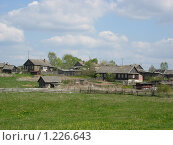 Купить «Деревня на пригорке», фото № 1226643, снято 11 мая 2008 г. (c) Анастасия Некрасова / Фотобанк Лори