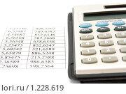 Купить «Калькулятор и числа», фото № 1228619, снято 16 сентября 2009 г. (c) Вадим Субботин / Фотобанк Лори