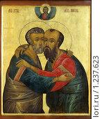 Купить «Икона с изображением апостолов Петра и Павла», фото № 1237623, снято 3 ноября 2009 г. (c) Дмитрий Калиновский / Фотобанк Лори