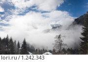 Купить «Зимний пейзаж. Доломитовые Альпы, Италия», фото № 1242343, снято 7 февраля 2009 г. (c) Николай Коржов / Фотобанк Лори