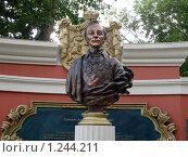 Купить «Бюст А.В.Суворова», фото № 1244211, снято 25 июля 2009 г. (c) Onda / Фотобанк Лори