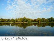 Большой Новодевичий пруд, утро (2009 год). Стоковое фото, фотограф Герман Молодцов / Фотобанк Лори