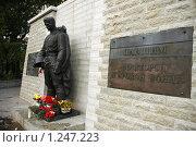 Купить «Бронзовый солдат», фото № 1247223, снято 21 января 2018 г. (c) Юлия Перова / Фотобанк Лори