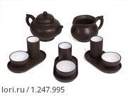 Купить «Набор для китайской чайной церемонии», фото № 1247995, снято 15 сентября 2019 г. (c) Черников Роман / Фотобанк Лори