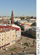 Купить «Вид на центр Казани и улицу Баумана», фото № 1248227, снято 10 мая 2009 г. (c) Денис Ларкин / Фотобанк Лори
