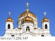 Купить «Купола храма Христа Спасителя», фото № 1256147, снято 20 мая 2019 г. (c) Галина Бурцева / Фотобанк Лори