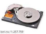 Купить «Разобранный жесткий диск компьютера», фото № 1257759, снято 19 октября 2009 г. (c) Денис Ларкин / Фотобанк Лори