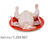 Купить «Курица на тарелке», фото № 1259867, снято 9 марта 2008 г. (c) Elnur / Фотобанк Лори