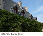 Купить «Старый французский домик в зелени», фото № 1262843, снято 6 сентября 2009 г. (c) Дживита / Фотобанк Лори