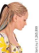 Купить «Девушка с африканскими косичками», фото № 1265899, снято 7 сентября 2008 г. (c) Валентин Мосичев / Фотобанк Лори