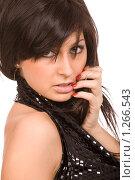 Купить «Красивая брюнетка», фото № 1266543, снято 20 декабря 2008 г. (c) Валентин Мосичев / Фотобанк Лори
