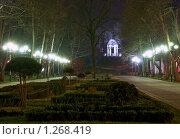 Купить «Светящаяся беседка в ночном парке», фото № 1268419, снято 11 февраля 2009 г. (c) Андрей Емельяненко / Фотобанк Лори