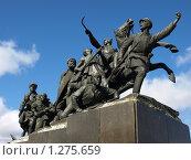 Купить «Памятник Чапаеву», фото № 1275659, снято 10 октября 2009 г. (c) Сергей Зубов / Фотобанк Лори