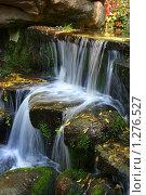 Осенний водопад. Софиевский парк. Умань. Украина. Стоковое фото, фотограф Марина Рябущиц / Фотобанк Лори