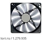 Купить «Компьютерный вентилятор. Изолировано», фото № 1279935, снято 9 декабря 2009 г. (c) Vitas / Фотобанк Лори