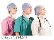 Купить «Три врача», фото № 1294547, снято 6 апреля 2020 г. (c) Антон Викторович / Фотобанк Лори