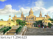 Купить «Национальный музей Каталонии, Испания . Барселона», фото № 1294623, снято 27 августа 2008 г. (c) Vitas / Фотобанк Лори