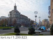 Купить «Центральная улица Киева - Крещатик», фото № 1299823, снято 12 октября 2008 г. (c) Юрий Брыкайло / Фотобанк Лори