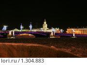Купить «Вид на здание Кунсткамеры зимней ночью», фото № 1304883, снято 16 декабря 2009 г. (c) Александр Секретарев / Фотобанк Лори