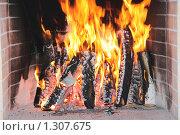 Купить «Огонь в камине», фото № 1307675, снято 20 декабря 2009 г. (c) Балов Сергей / Фотобанк Лори