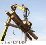 Купить «Заготовка древесины», фото № 1311407, снято 16 февраля 2008 г. (c) Илья Телегин / Фотобанк Лори