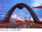 Живописный мост в Москве вечером (2009 год). Редакционное фото, фотограф Денис Ларкин / Фотобанк Лори