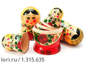 Купить «Русская матрёшка», фото № 1315635, снято 31 октября 2009 г. (c) Сергей Плахотин / Фотобанк Лори