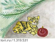 Купить «Тигренок. Рисунок», иллюстрация № 1319531 (c) Ольга Лерх Olga Lerkh / Фотобанк Лори