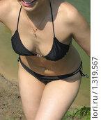 Фигура девушки после купания. Стоковое фото, фотограф Валентин Тучин / Фотобанк Лори