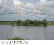 Облака купаются в Оке на родине Есенина (2008 год). Стоковое фото, фотограф Валентин Тучин / Фотобанк Лори