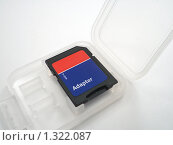 Купить «Адаптер для карты памяти Micro SD», фото № 1322087, снято 26 декабря 2009 г. (c) Ivan Markeev / Фотобанк Лори
