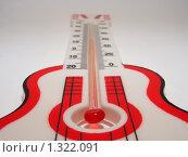 Купить «Термометр, стилизованный под гитару», фото № 1322091, снято 26 декабря 2009 г. (c) Ivan Markeev / Фотобанк Лори