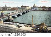 Николаевский мост. Санкт-Петербург. Стоковое фото, фотограф Юрий Кобзев / Фотобанк Лори
