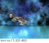 Купить «Космический корабль», иллюстрация № 1331403 (c) Alperium / Фотобанк Лори