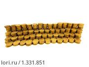 Купить «Стопки монет на белом фоне», фото № 1331851, снято 22 февраля 2009 г. (c) Elnur / Фотобанк Лори