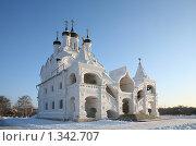 Купить «Храм Благовещения в селе Тайнинском», фото № 1342707, снято 4 января 2010 г. (c) Наталья Волкова / Фотобанк Лори