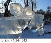 Купить «Ледяные скульптуры в Снежном городке. Парк Сокольники, Москва», эксклюзивное фото № 1344543, снято 4 января 2010 г. (c) lana1501 / Фотобанк Лори