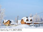 Коттеджи зимние. Стоковое фото, фотограф Сергей Кудряков / Фотобанк Лори