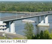 Барнаул. Фрагмент моста через Обь (2009 год). Редакционное фото, фотограф Вячеслав Чернов / Фотобанк Лори