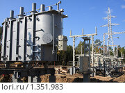 Купить «Новый трансформатор  110/35/6 кВ», фото № 1351983, снято 10 сентября 2009 г. (c) Андрей Николаев / Фотобанк Лори