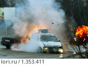 Купить «Авария на шоссе», фото № 1353411, снято 15 февраля 2005 г. (c) Татьяна Белова / Фотобанк Лори