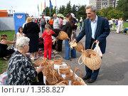 Купить «Ивовых дел мастер», фото № 1358827, снято 12 сентября 2009 г. (c) Качанов Владимир / Фотобанк Лори