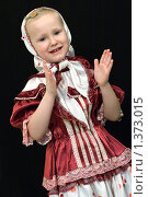 Купить «Портрет девочки на чёрном фоне», фото № 1373015, снято 5 декабря 2009 г. (c) Гребенников Виталий / Фотобанк Лори