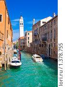 Купить «Канал в Венеции», фото № 1378755, снято 5 сентября 2008 г. (c) Алексей Попов / Фотобанк Лори