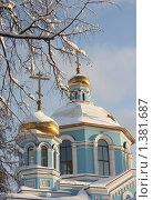 Купить «Золотые Купола», фото № 1381687, снято 16 января 2010 г. (c) Эдуард Магданов / Фотобанк Лори