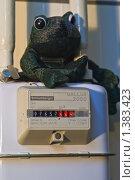 Купить «Счетчик расхода газа», фото № 1383423, снято 19 ноября 2009 г. (c) Игорь Митов / Фотобанк Лори