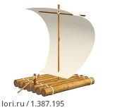 Купить «Игрушечный плот», иллюстрация № 1387195 (c) Лукиянова Наталья / Фотобанк Лори