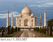 Купить «Тадж-Махал. Агра, Индия», фото № 1393087, снято 29 ноября 2008 г. (c) Владимир Журавлев / Фотобанк Лори